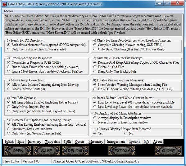 Screenshot 8 Of Hero Editor For Diablo 2 103
