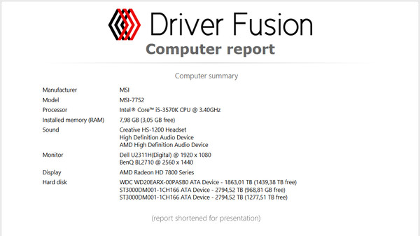 Screenshot 19 of Driver Fusion Premium
