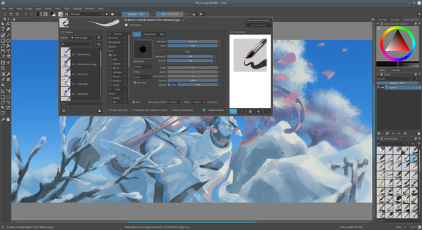 Screenshot 3 of Krita