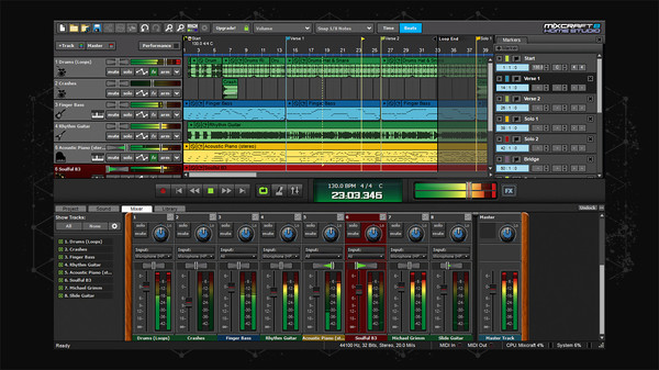 Screenshot 1 of Mixcraft 8 Home Studio